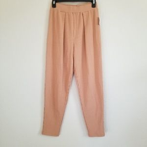 NWT Urban Outfitters Tan Ribbed Joggers Pants S